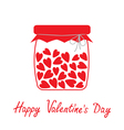 Love bottle with hearts inside Happy Valentines Da vector image vector image