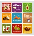 Mexican Food Labels Set vector image
