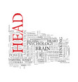 mind word cloud concept vector image