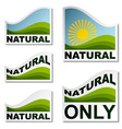 natural landscape stickers vector image vector image