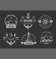 nautical or marine symbols isolated icons octopus vector image vector image