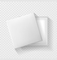open white empty gift box on transparent vector image