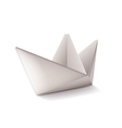 Origami ship isolated on white vector image vector image