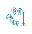 photographic equipment linear icon concept vector image