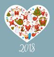 santa clauses with gift bag christmas tree vector image vector image