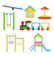 set of objects to be placed on the playground vector image vector image