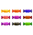set of sweets candy on white background vector image