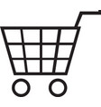 shopping basket icon shopping basket vector image vector image