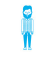 silhouette cute man with hairstyle design vector image vector image