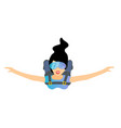 skydiver woman flying female character vector image vector image