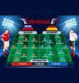 soccer tactics board vector image