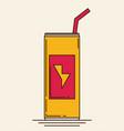 soda can flat vector image vector image