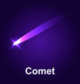 space comet icon isometric style vector image vector image