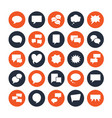 speech bubble speech flat glyph icons chat vector image