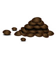stack of coffee beans vector image