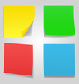 sticky notes nine different colors vector image vector image