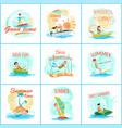 summer fun and good fun set vector image vector image