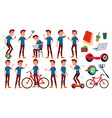teen boy poses set emotional pose for vector image vector image