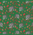 tiger and chain green red pattern fashion jungle vector image