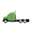 truck cabin transport industry trailer vehicle vector image vector image