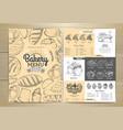 vintage bakery menu design restaurant menu vector image