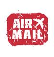 vintage postage air mail stamp vector image vector image