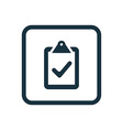 vote icon Rounded squares button vector image