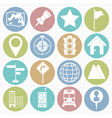 White icons map vector image