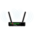 wifi router with antenna vector image
