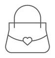 women bag thin line icon girl and purse handbag vector image