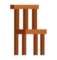 Wood chair isolated vector image vector image