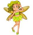 Yellow fairy vector image