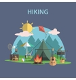 Hiking Concept Flat vector image