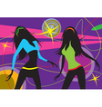 Dancing girls in a club vector image