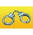 Handcuffs arrest crime vector image