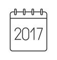 2017 annual calendar linear icon
