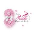 8 march happy womens day vector image vector image