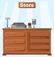 a counter in the store from the vector image