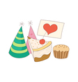 a piece cake vector image vector image