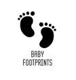 baby footprints icon vector image vector image