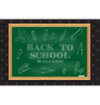 Back To School typographical background on vector image vector image