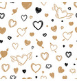 beautiful seamless pattern with doodle sketch vector image vector image