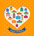 birthday card holiday templates vector image vector image
