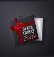 black friday sale glitter sparkleopen black gift vector image vector image