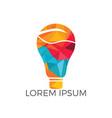 bulb lamp leaf logo vector image vector image