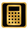 calculator button on white vector image