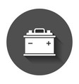 car battery flat icon auto accumulator battery vector image