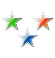 Cartoon stars vector image