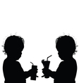 child with glasses silhouette vector image vector image