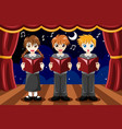 children singing in a choir vector image